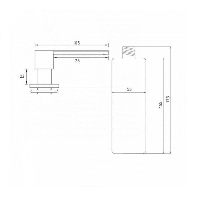 Caressi - CA203I Zeepdispensers