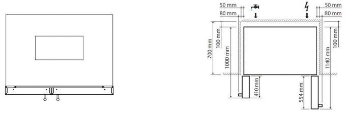 Steel - AFRB9BR Side By Side koelkast