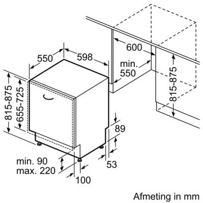 Bosch - SMA46AX00N Volledig geintegreerde vaatwasser