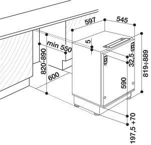 Indesit - INTS1612 Onderbouw koelkast