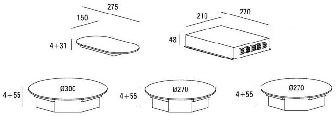 ABK - ICIR0302 Domino inductie kookplaat