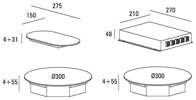 ABK - ICIR0203 Domino inductie kookplaat
