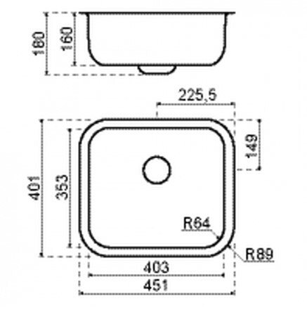 Lanesto - 310060N Spoelbakken