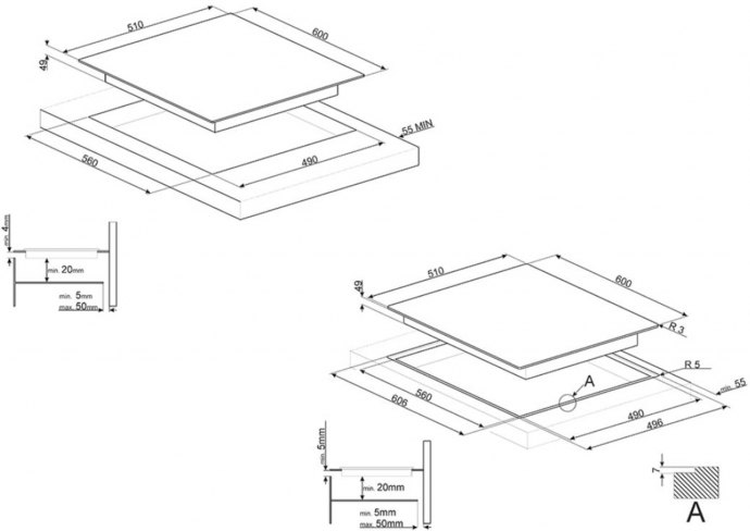 Smeg - SI2M7643D Inductie kookplaat