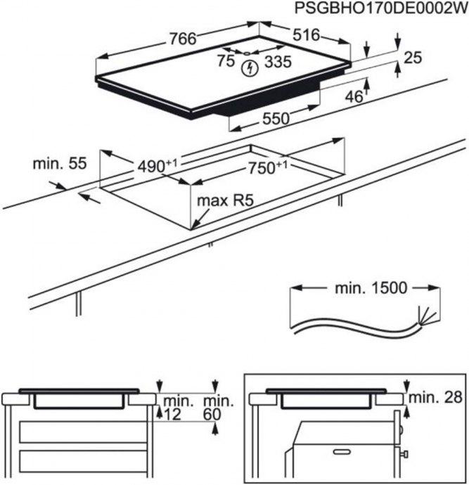 AEG - IKB84401XB Inductie kookplaat