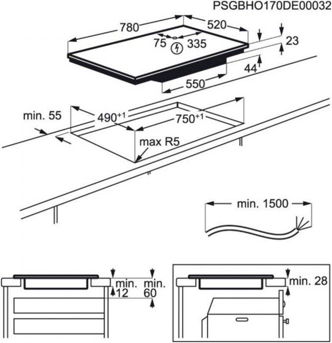 AEG - IKE84441FB Inductie kookplaat