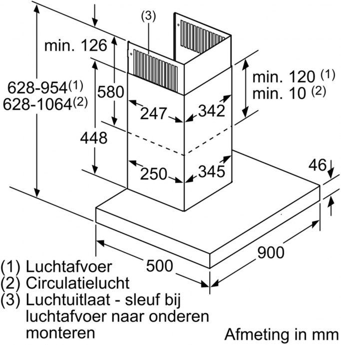 Neff - D96BMU5N0 Wandschouw afzuigkap