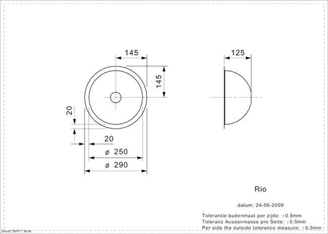 Reginox - R00472 Spoelbakken