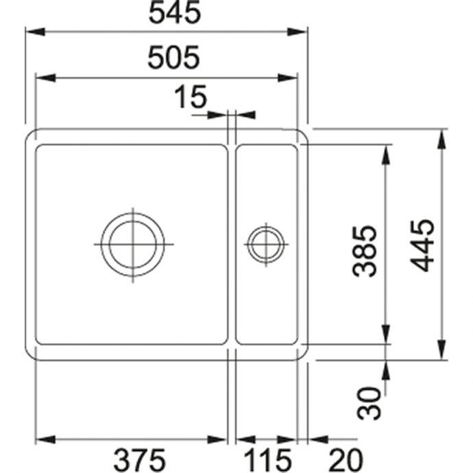 Franke - KBK160G Spoelbakken