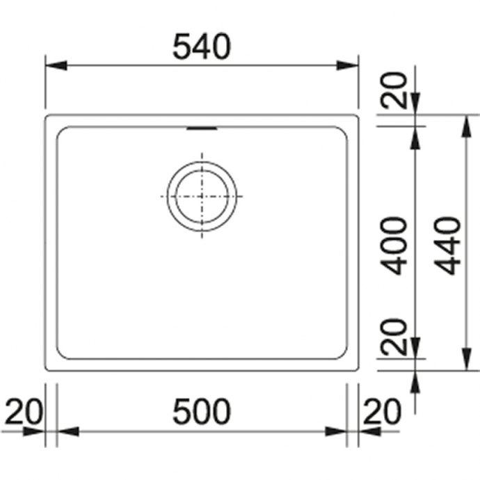 Franke - KBG11050G Spoelbakken