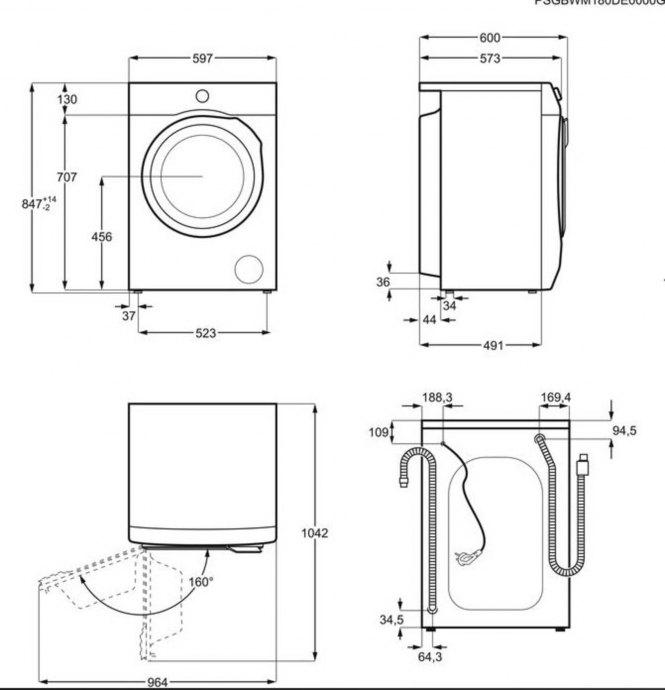AEG - L6FBN6862 Vrijstaande wasmachines