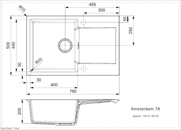 Reginox - R32770 Spoelbakken