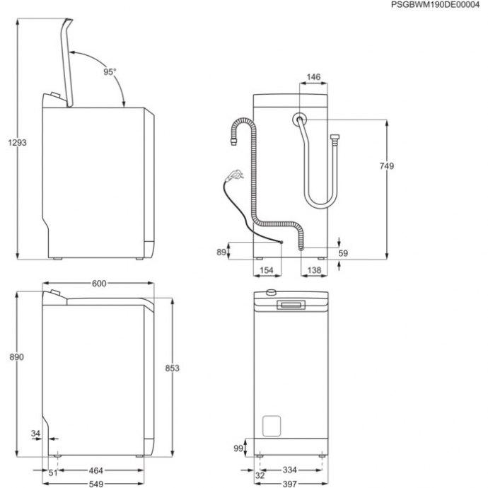 AEG - L6TB73G Vrijstaande wasmachines