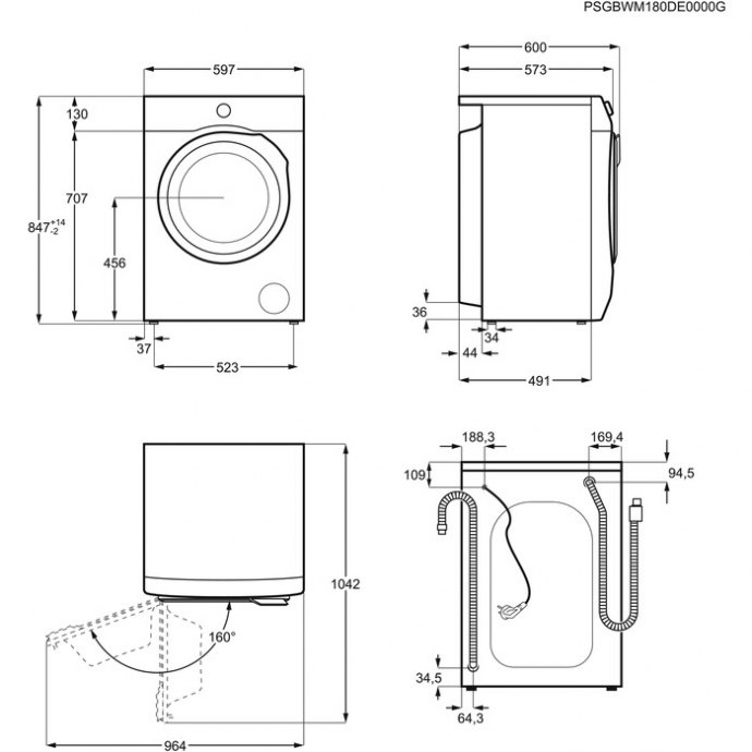 AEG - L6FBN5761 Vrijstaande wasmachines