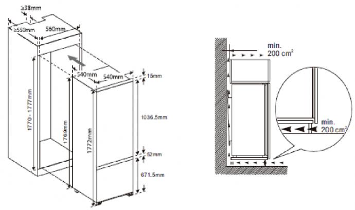 hananto - HIKVC17811 Inbouw koelkasten vanaf 178 cm