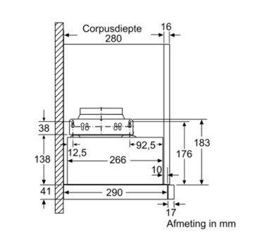 Bosch - DFL064W53 Vlakscherm afzuigkap