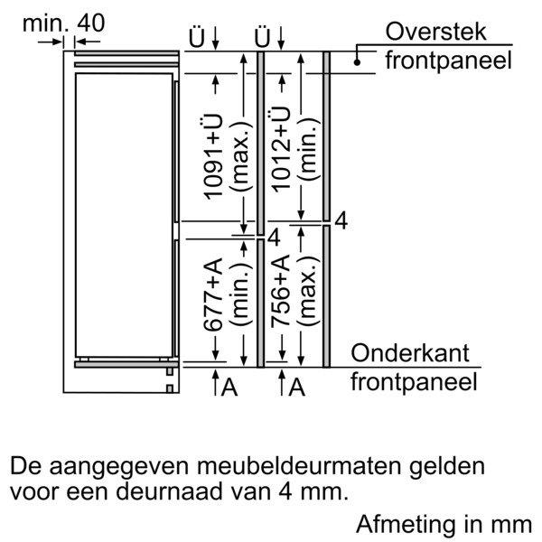 Siemens - KI86V5SF0 Inbouw koelkasten vanaf 178 cm