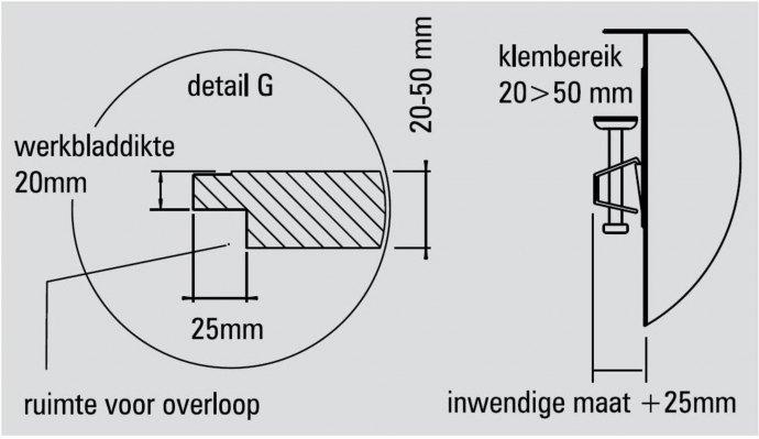 ABK - BIN3434FVI Spoelbakken