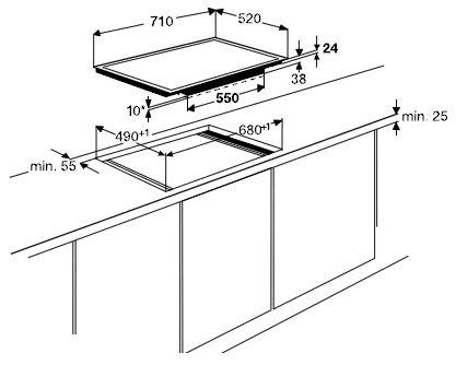 AEG - HK764403FB Inductie kookplaat