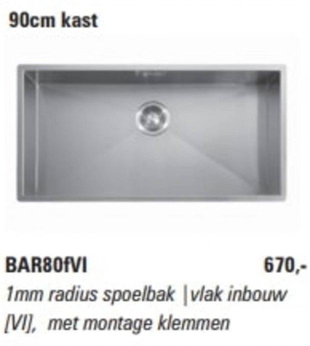 ABK - BAR80VI Spoelbakken