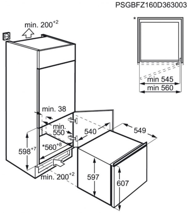 AEG - ABB66011AS Inbouw vriezers