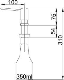 Franke - 1190081230 Zeepdispensers