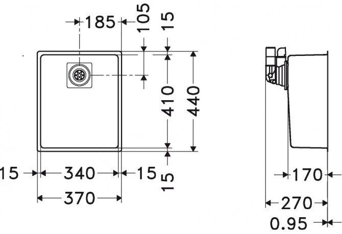 Franke - CMX11034 Spoelbakken