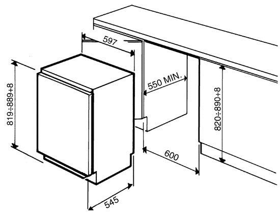 Smeg - FR148AP Onderbouw koelkast