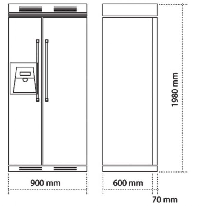 Steel - GFR9SS Side By Side koelkast