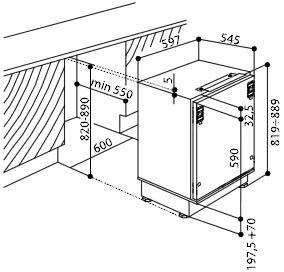 Whirlpool - ARG913A+ Onderbouw koelkast