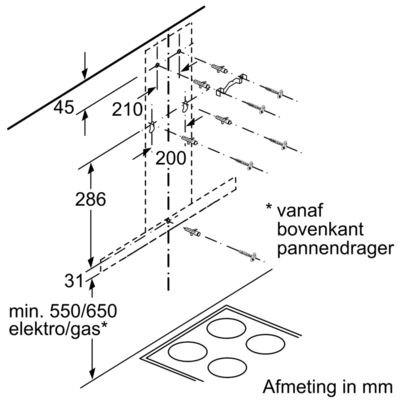 Siemens - LC94BBC51 Wandschouw afzuigkap