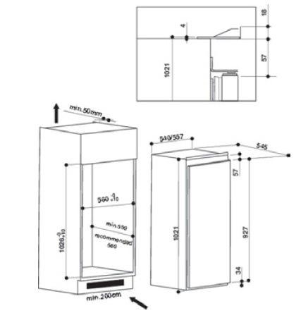 Whirlpool - ARG10470A+ Inbouw koelkasten rond 102 cm