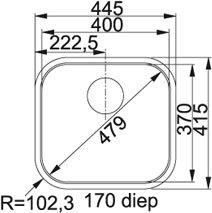 Franke - QTX210 Spoelbakken