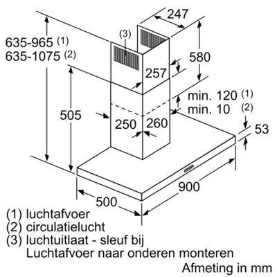 Siemens - LC94BBC50 Wandschouw afzuigkap