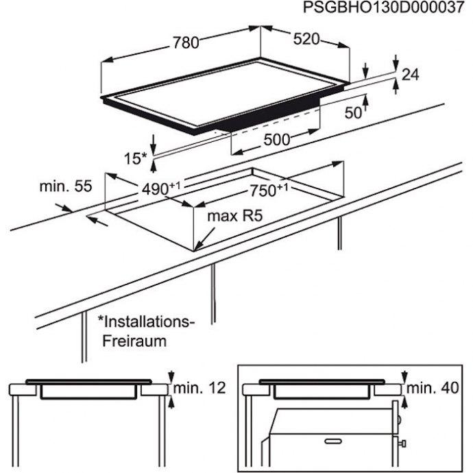 AEG - HK874400FB Inductie kookplaat
