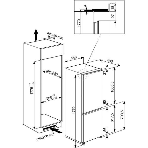 Whirlpool - ART459A+NF1 Inbouw koelkasten vanaf 178 cm