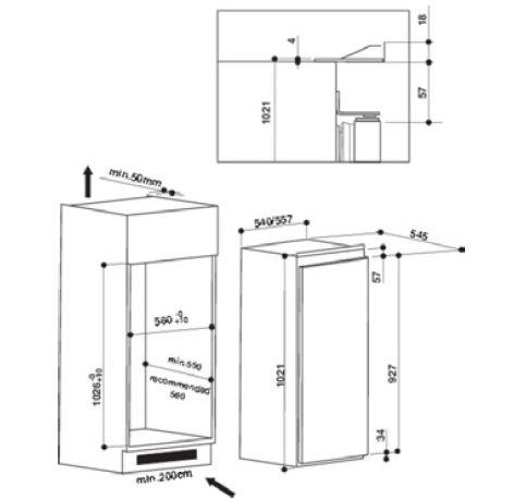 Whirlpool - ARG10472A++SF Inbouw koelkasten rond 102 cm