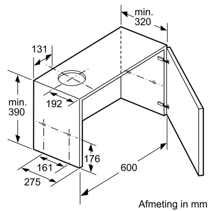 Bosch - DFL064W50 Vlakscherm afzuigkap
