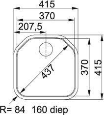 Franke - DEX21037 Spoelbakken
