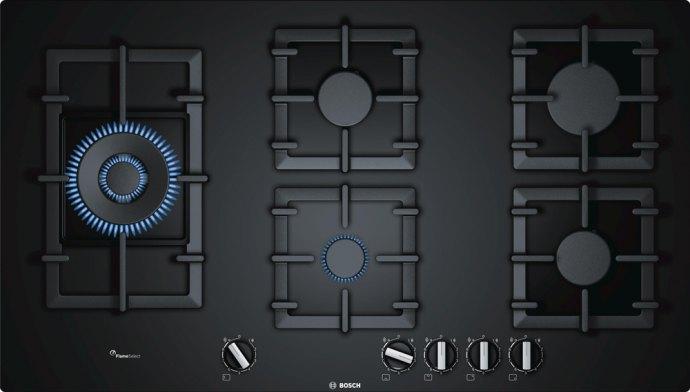Bosch - PPS9A6C90N Gas op glas kookplaat