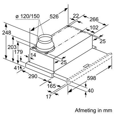 Siemens - LI64LA520 Vlakscherm afzuigkap