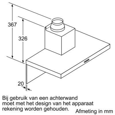 Bosch - DWB96BC50 Wandschouw afzuigkap