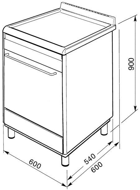 Smeg - SNL60MX9 Fornuis 60 cm
