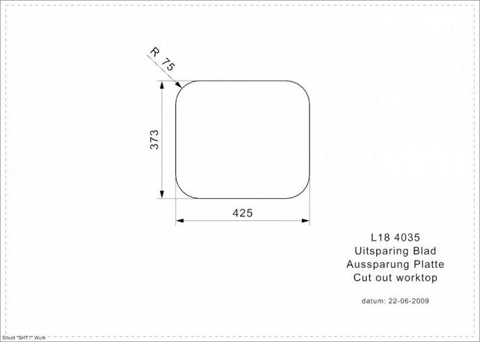 Reginox - R03251 Spoelbakken