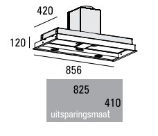 ABK - PSFR086E Inbouwunit afzuigkap