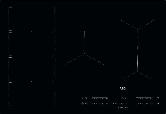 AEG - IKE85471IB Inductie kookplaat