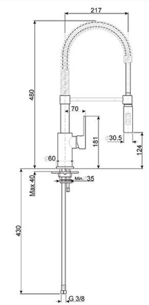 Smeg - MIDR55CR Kranen