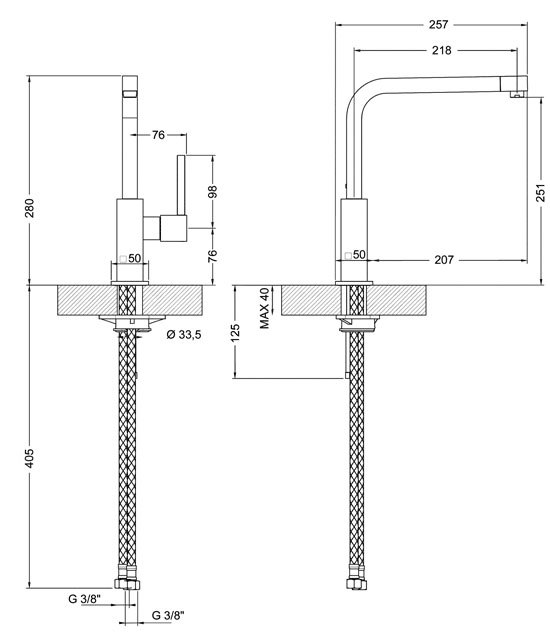 Smeg - MFQ6CR Kranen