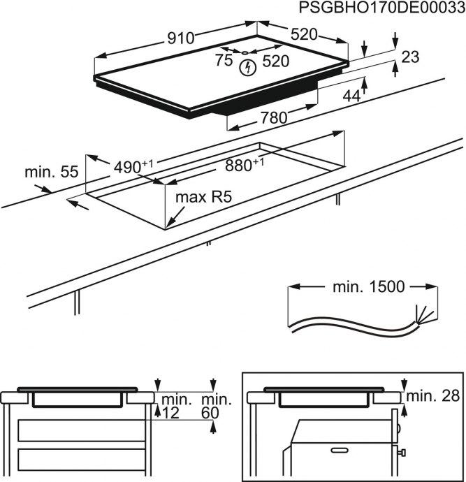 AEG - IKE95454FB Inductie kookplaat