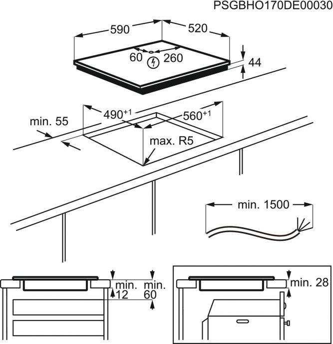 AEG - IKB64301FB Inductie kookplaat